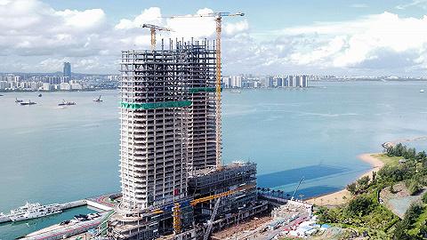 海口装配式钢结构建筑领域首个全钢结构项目完成封顶